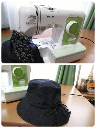 初めての手作り帽子、完成したよ~~~_f0043559_12163167.jpg