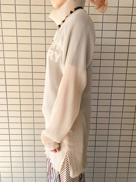 CHIGNONSTAR☆シアープリーツタートルpullover☆_e0269968_16001158.jpg