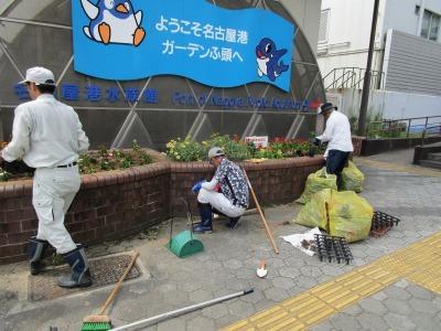 ガーデンふ頭総合案内所前花壇の植替えR1.8.19_d0338682_16314959.jpg