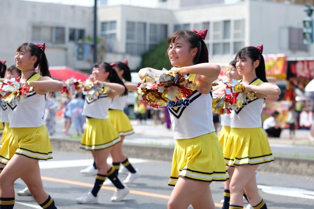 ひたちなか祭り <3> 常磐大学高等学校チアリーディング部 2019・08・18_e0143883_17034986.jpg