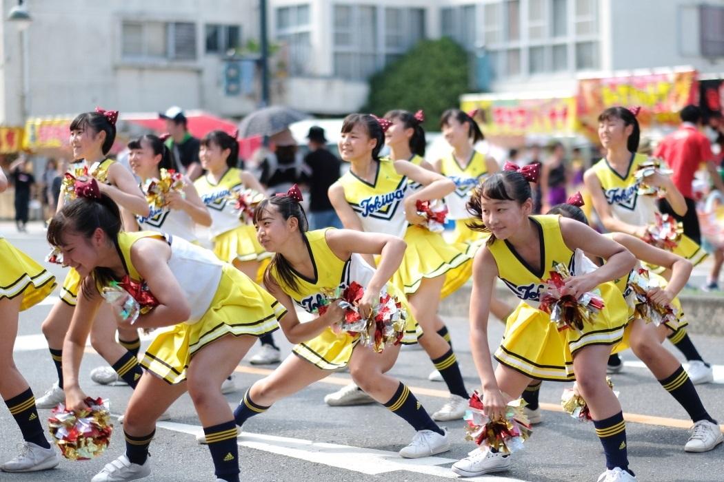 ひたちなか祭り <3> 常磐大学高等学校チアリーディング部 2019・08・18_e0143883_17054446.jpg