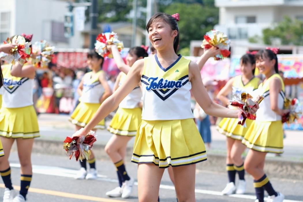 ひたちなか祭り <3> 常磐大学高等学校チアリーディング部 2019・08・18_e0143883_17074593.jpg