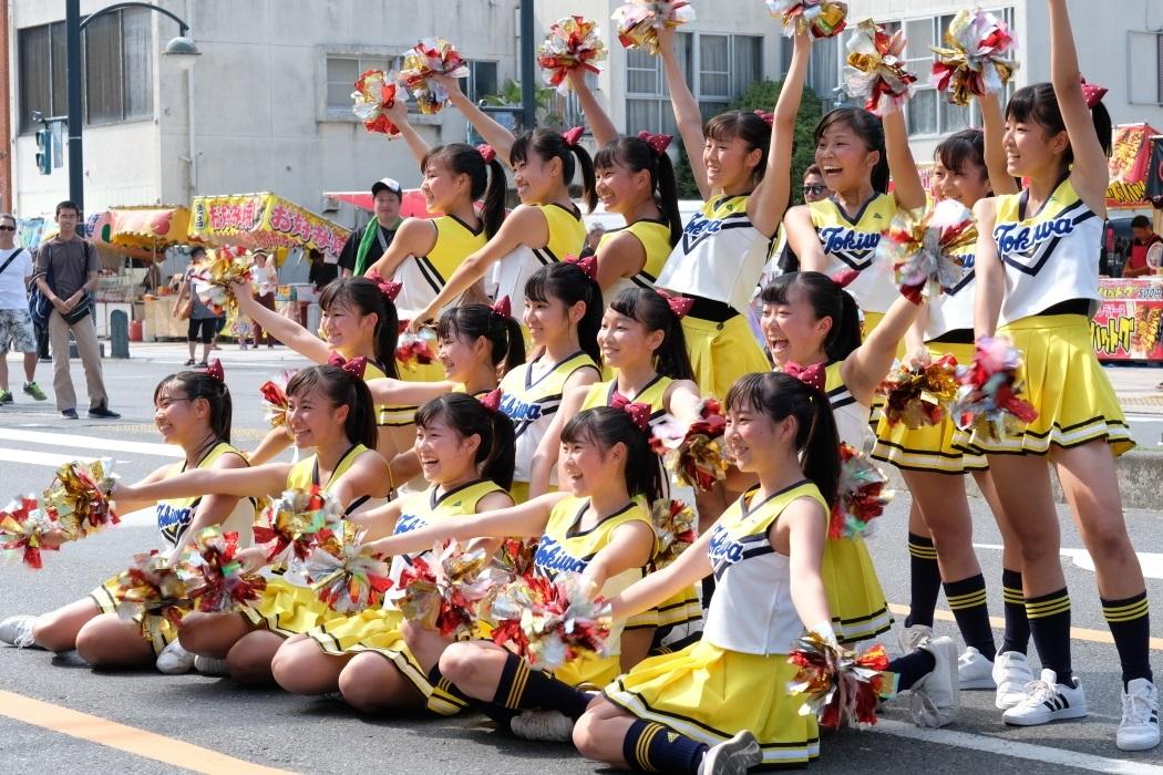 ひたちなか祭り <3> 常磐大学高等学校チアリーディング部 2019・08・18_e0143883_17121324.jpg