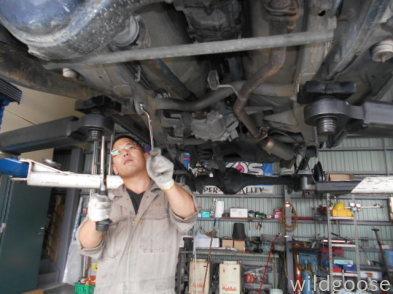本日から営業しております♪ JB23Wジムニー 車検整備中(⊙ꇴ⊙)_c0213517_11152970.jpg