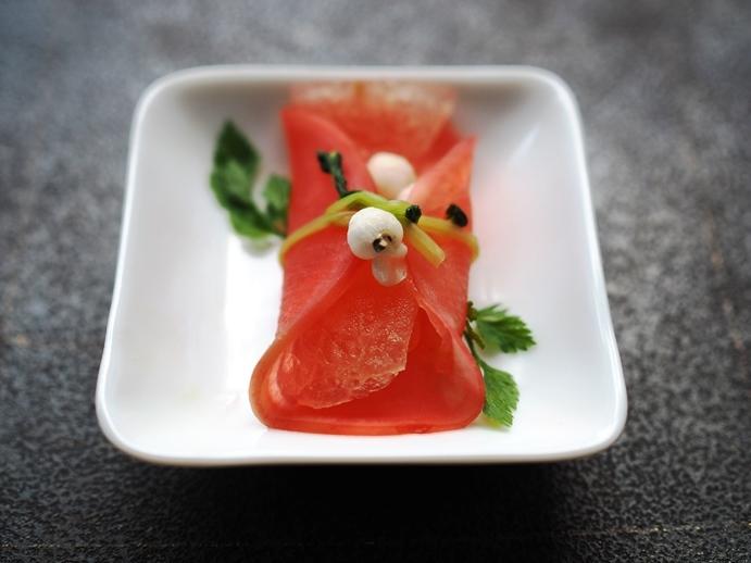 赤大根と冬瓜の甘酢漬け_e0148373_23100593.jpg