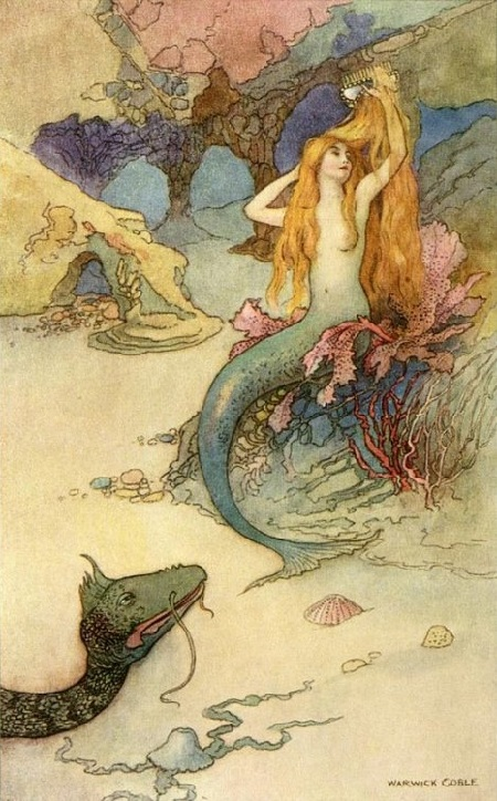 Warwick Goble画の人魚_c0084183_11224325.jpg