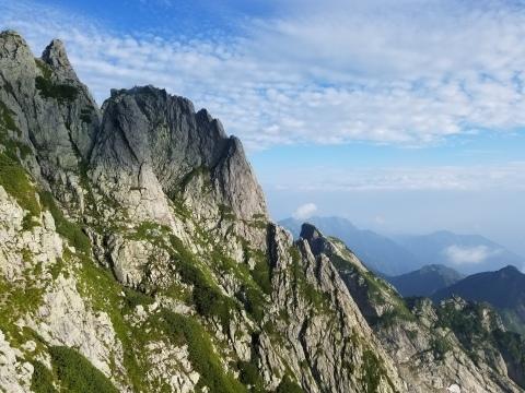 剱岳 チンネ左稜線・八ツ峰上半部_d0237801_22423823.jpg