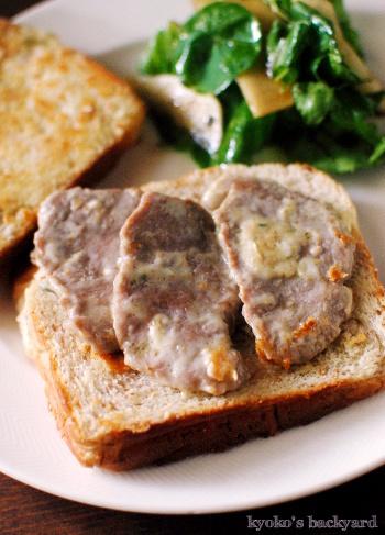 ブルーチーズ&ポークのサンドイッチ。マンゴーサルサ&ハムのカナッペ_b0253205_06283820.jpg