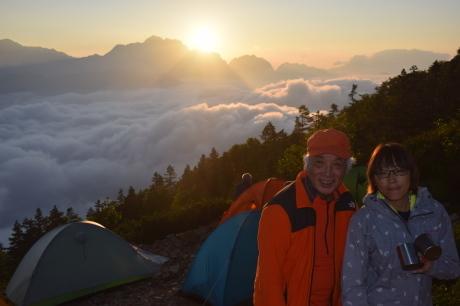 2019年8月17日 剣岳に沈んだ夕陽で空がバラ色に輝くsunsetを堪能した。_c0242406_17150361.jpg