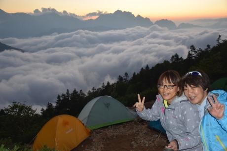 2019年8月17日 剣岳に沈んだ夕陽で空がバラ色に輝くsunsetを堪能した。_c0242406_17303742.jpg