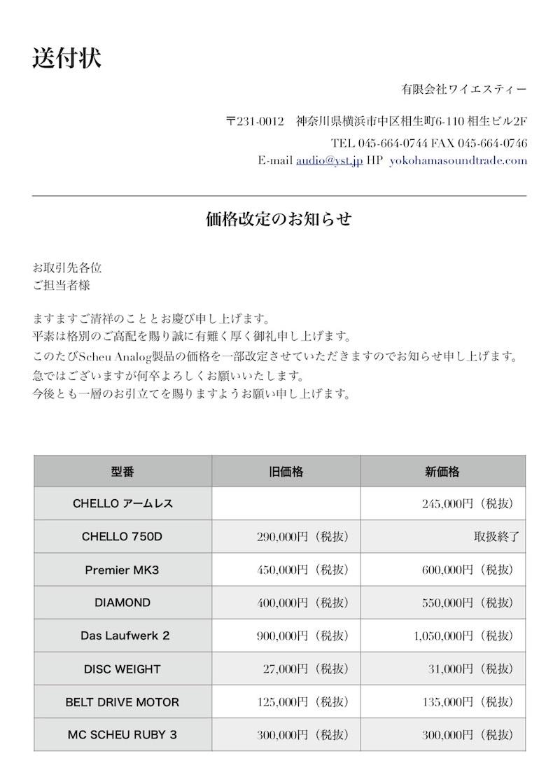 Scheu Analog製品価格改定のお知らせ_c0329715_17100376.jpg