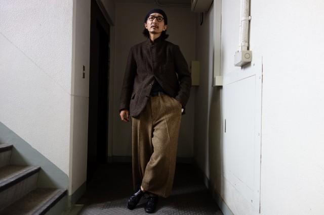 10月の製作 / classic shetlandwooltweed trousers_e0130546_13250131.jpg