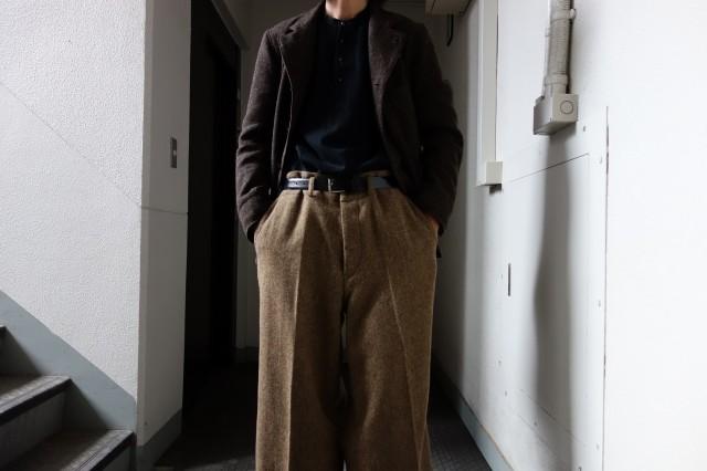 10月の製作 / classic shetlandwooltweed trousers_e0130546_13251751.jpg