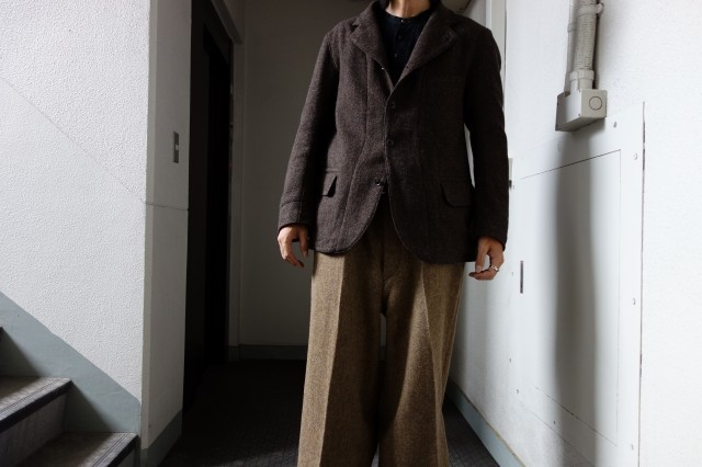 10月の製作 / classic shetlandwooltweed tailor jacket_e0130546_13312250.jpg
