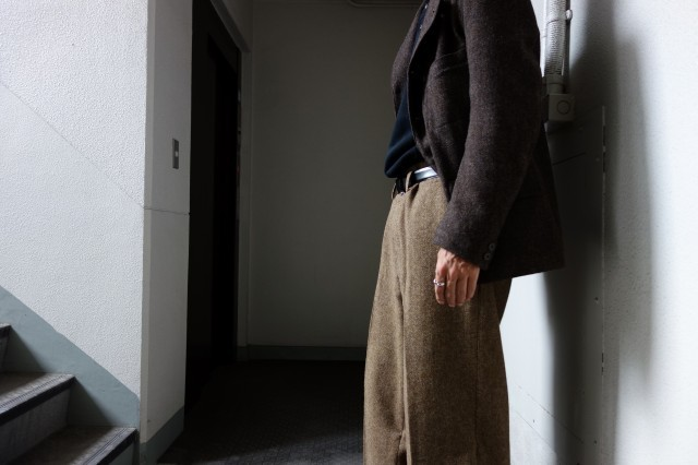 10月の製作 / classic shetlandwooltweed trousers_e0130546_13345658.jpg