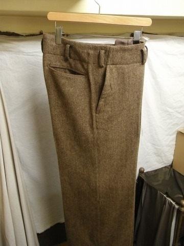 10月の製作 / classic shetlandwooltweed trousers_e0130546_13395125.jpg