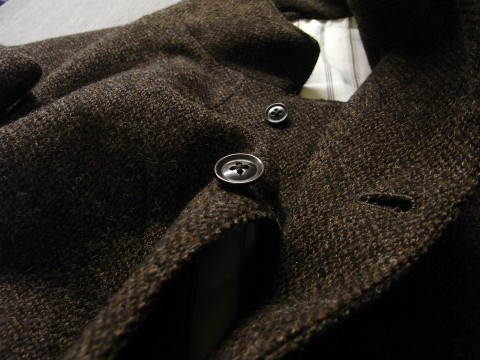 10月の製作 / classic shetlandwooltweed tailor jacket_e0130546_14385545.jpg