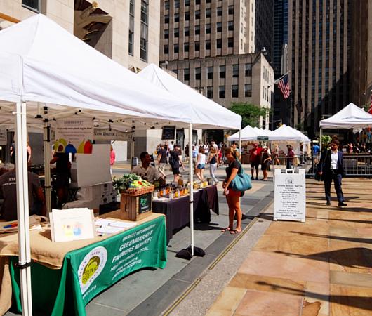 本日8月23日(金)が最終日、ロックフェラー・センターでのグリーン・マーケット(Greenmarket at Rockefeller Center)_b0007805_12265079.jpg