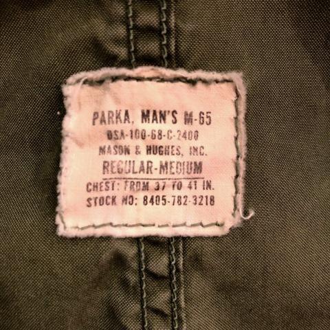 "1968 \"" U.S ARMY \"" 100% cotton POPLIN VINTAGE M-65 FISHTAIL PARKA ._d0172088_18531081.jpg"