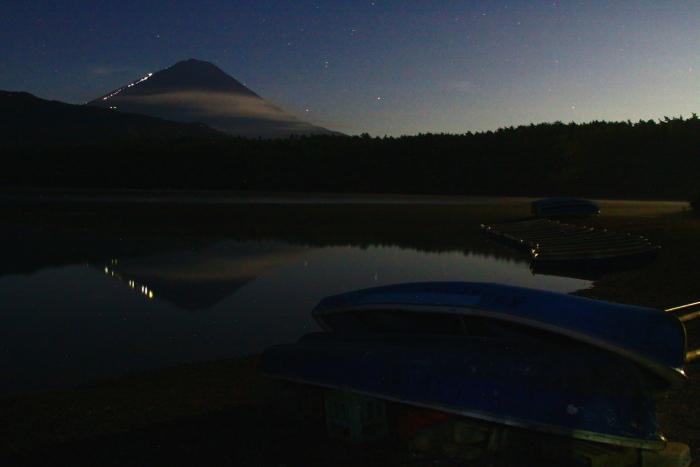 令和元年8月の富士(20)西湖根場浜からの富士_e0344396_18235314.jpg