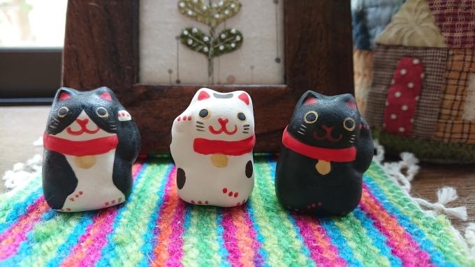ラリーキルトはピンクの糸で&招き猫好き♪_f0374160_22351354.jpg