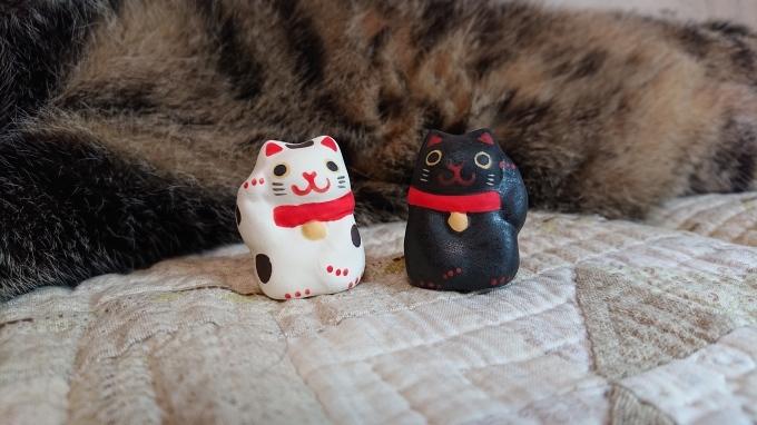ラリーキルトはピンクの糸で&招き猫好き♪_f0374160_22353684.jpg
