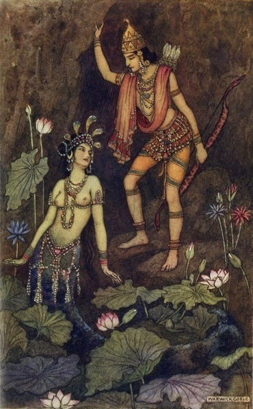 Warwick Goble画のインドの人魚_c0084183_11272543.jpg