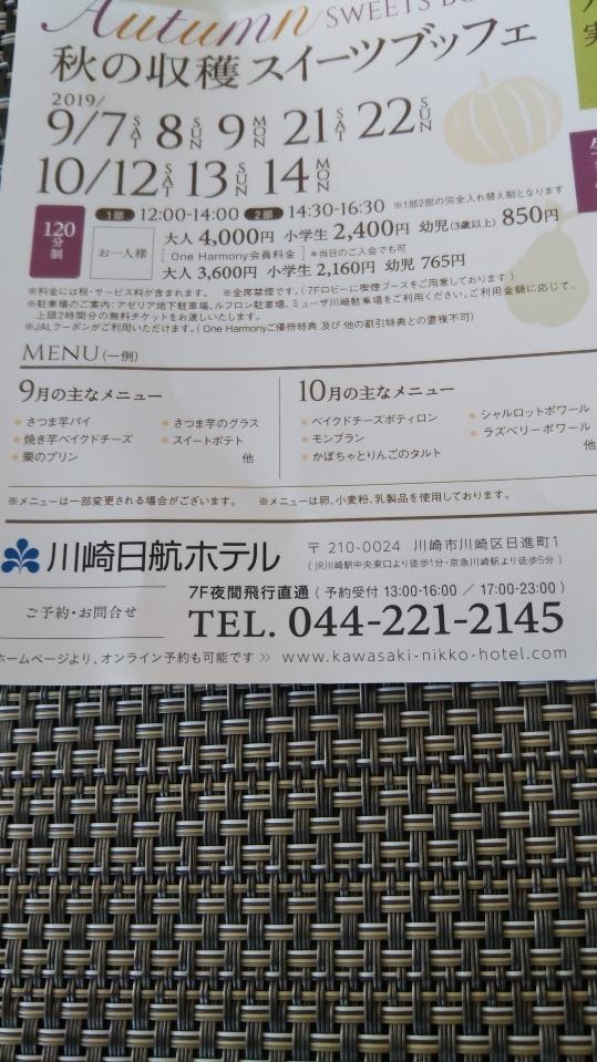 川崎日航ホテル 夜間飛行 トロピカルスイーツブッフェ_f0076001_23591900.jpg