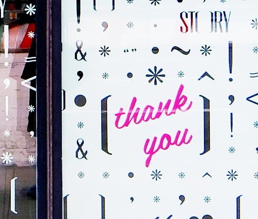 """NYのチェルシーで7年半続いたストーリー本店、最後のテーマは""""Thank You""""_b0007805_01262655.jpg"""