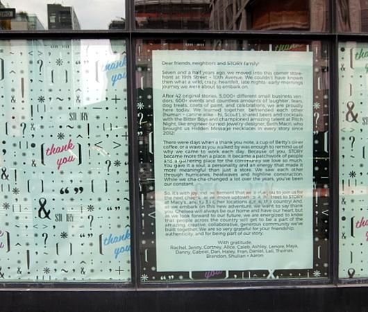 """NYのチェルシーで7年半続いたストーリー本店、最後のテーマは""""Thank You""""_b0007805_01264467.jpg"""