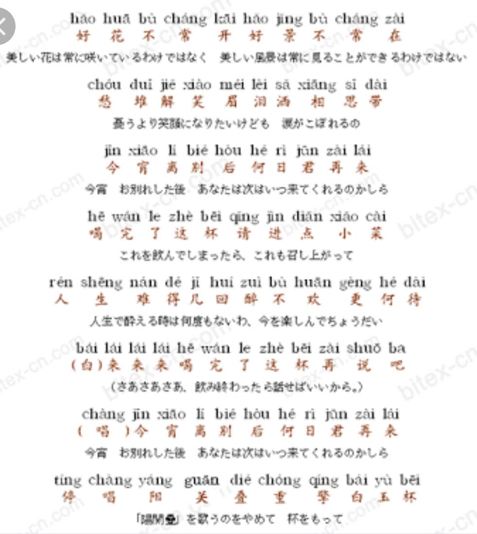何日君再来  中国語の練習中_b0099226_13042127.jpg