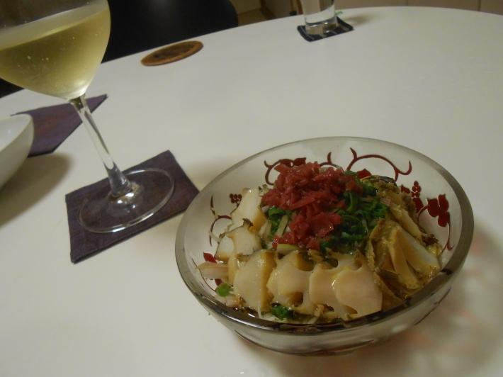 イシガキ貝とアワビでバスク地方のチャコリを飲みました。_a0095931_10291596.jpg