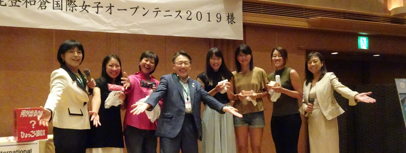 夏の光の中で能登和倉国際女子オープンテニス 2019・ウェルカムパーティ_b0115629_21224767.jpg