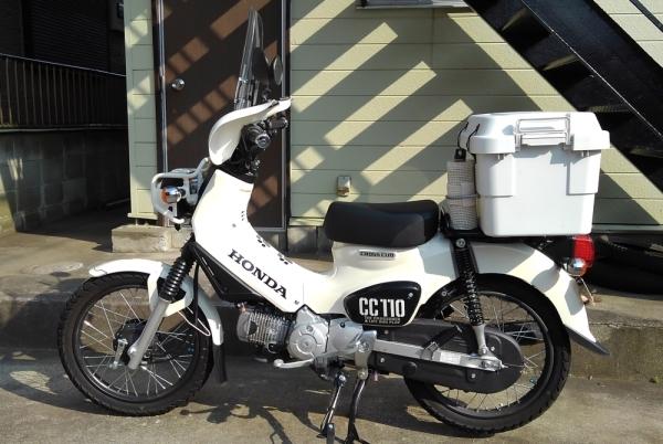 クロスカブ110(JA45) スクリーンとガソリンボトルホルダー_e0086244_15420757.jpg