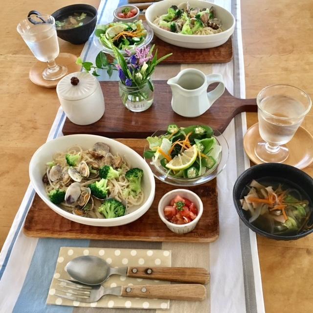pasta lunch   オーガニック野菜にトキメキ♪_a0165160_18134521.jpg