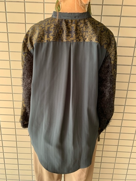 OKIRAKU◆ストライプ×異素材切替Shirts◆_e0269968_15313223.jpg