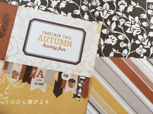 Let's create a weekly card & show off! #31 Hello Autumnカード_d0285885_10123949.jpeg