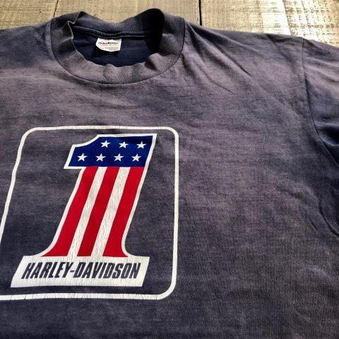 "1970s \"" CHAMPION \"" 100% cotton - HARLEY DAVIDSON NO.1 - VINTAGE 染み込みPRINT Tee SHIRTS ._d0172088_20565484.jpg"