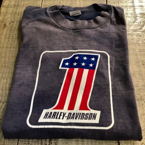 "1970s \"" CHAMPION \"" 100% cotton - HARLEY DAVIDSON NO.1 - VINTAGE 染み込みPRINT Tee SHIRTS ._d0172088_21105417.jpg"