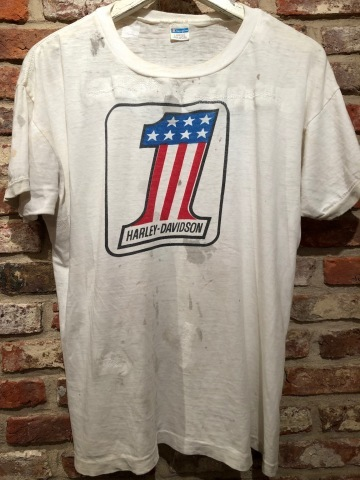 "1970s \"" CHAMPION \"" 100% cotton - HARLEY DAVIDSON NO.1 - VINTAGE 染み込みPRINT Tee SHIRTS ._d0172088_21340011.jpg"