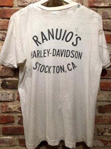 "1970s \"" CHAMPION \"" 100% cotton - HARLEY DAVIDSON NO.1 - VINTAGE 染み込みPRINT Tee SHIRTS ._d0172088_21345556.jpg"