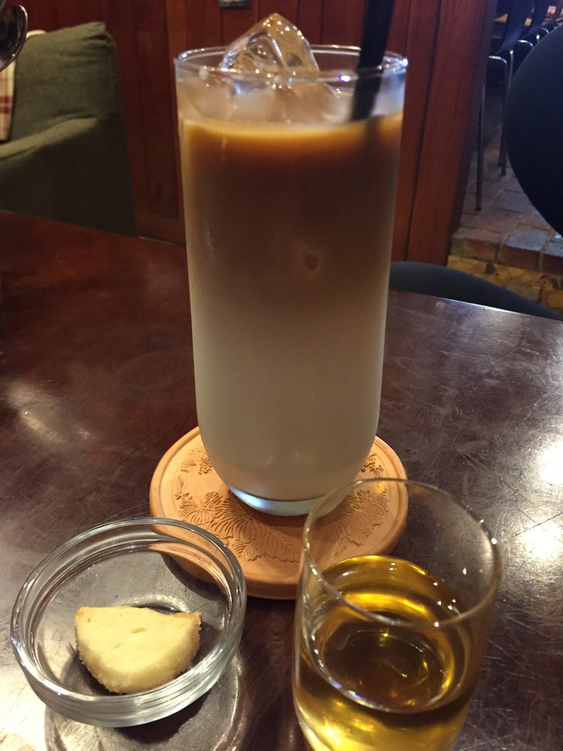 喫茶 1er ぷるみえ (豚そぼろとオイスター風味ライスに茄子の中華マリネソース)_e0115904_17005286.jpg