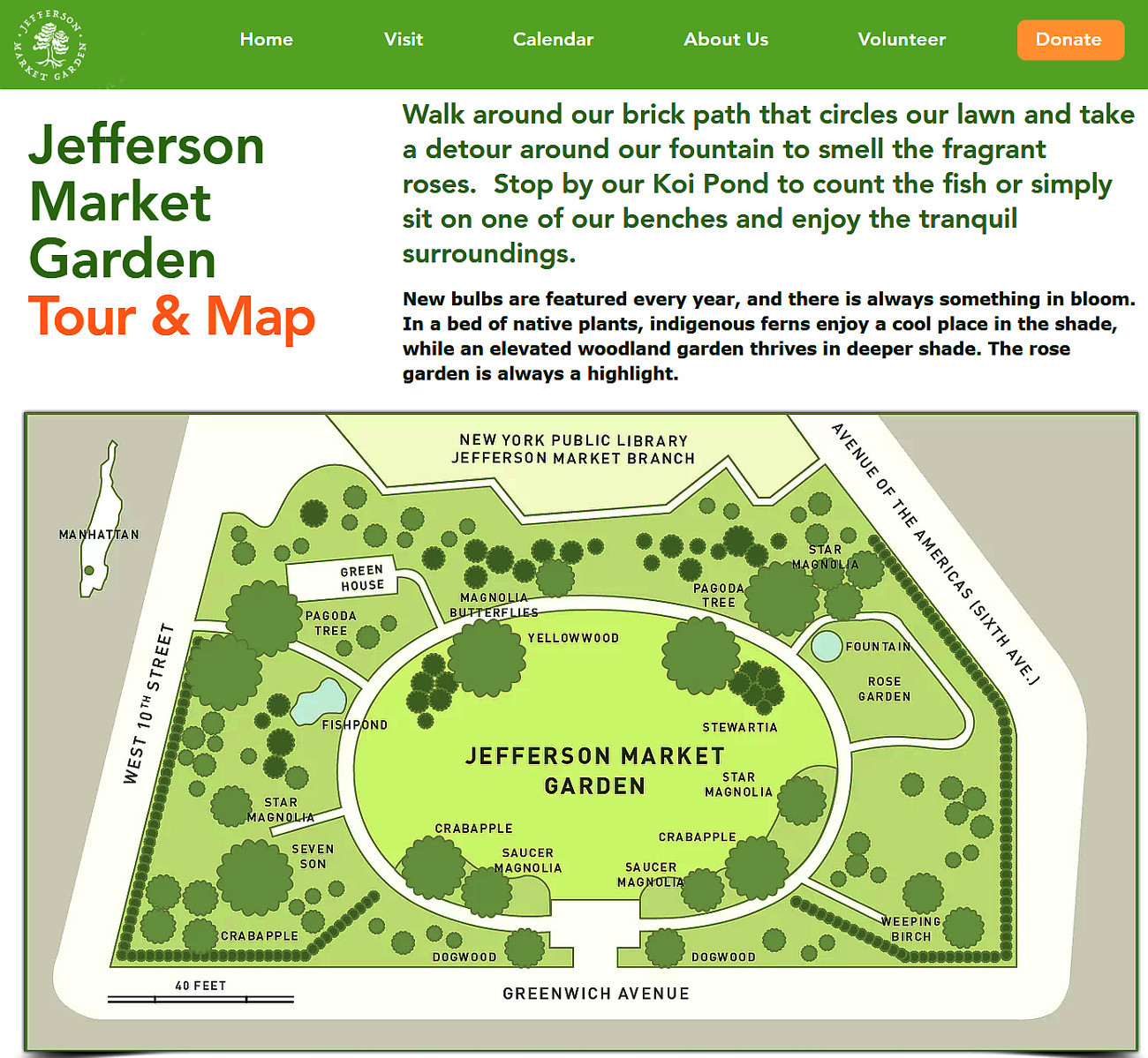 NYグリニッジ・ビレッジの隠れ家的ガーデン、Jefferson Market Garden_b0007805_02362624.jpg