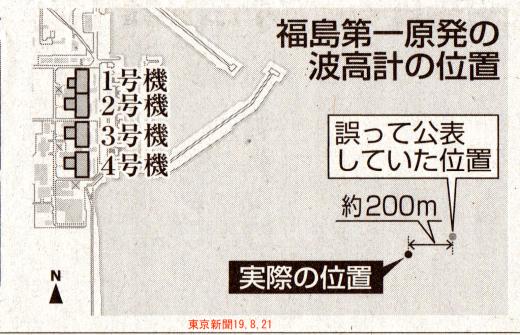 F1津波到達10~20秒早まる 波高計位置に謝り /  東京新聞 _b0242956_06565291.jpg