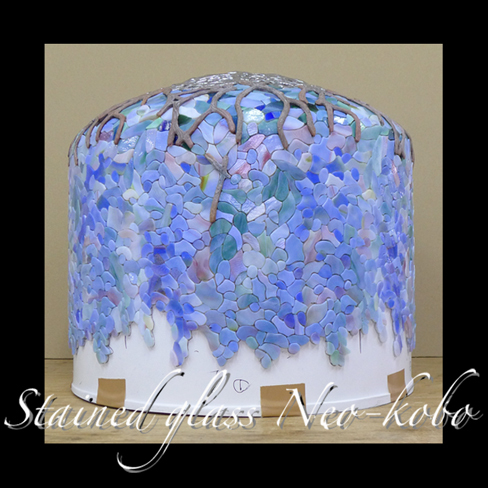 Tiffany lamp shade 18-inch Wisteria_e0140090_12504810.jpg