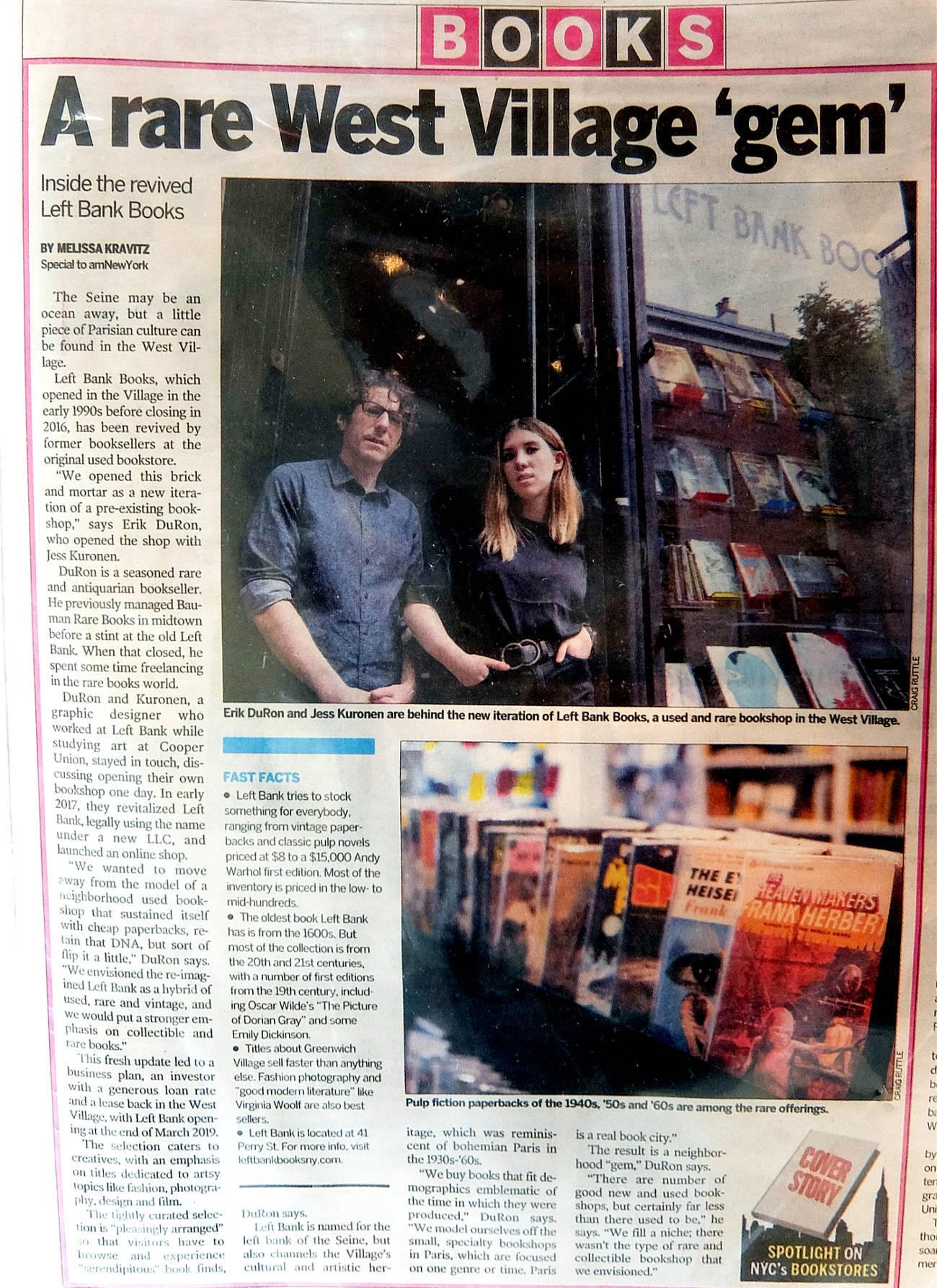 NYグリニッジ・ビレッジで復活した老舗書店、レフト・バンク・ブックス(Left Bank Books)_b0007805_08172596.jpg