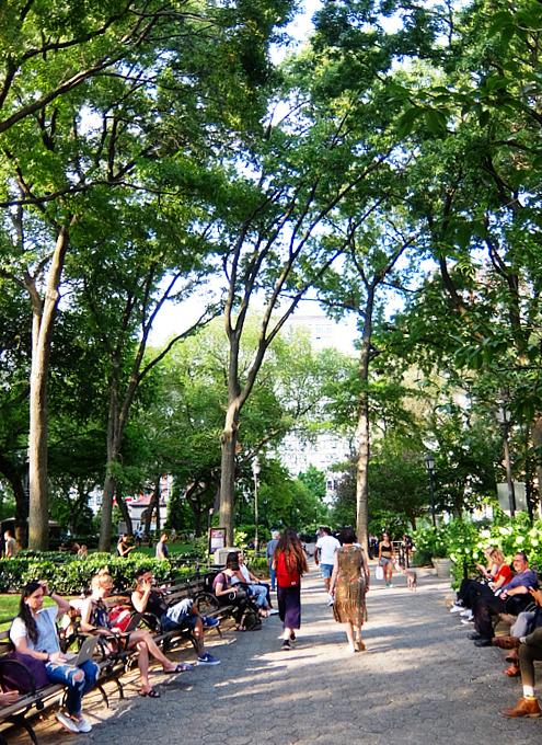 夏のニューヨーク、ユニオン・スクエア公園の様子_b0007805_08484519.jpg