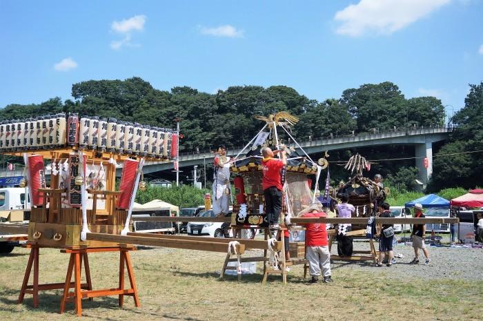■【第12回愛川夏祭り ①準備風景】_b0033423_19213710.jpg