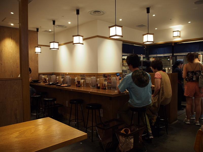 【夏の終わりの】冷やし牛しぐれうどん@「味味香」京都駅ポルタダイニング_b0008655_22163902.jpg