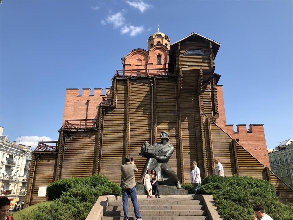 """キエフの正面玄関""""黄金の門""""@ウクライナ_a0092659_15272797.jpg"""